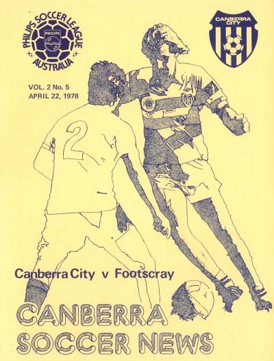 Canberra Soccer News 1978