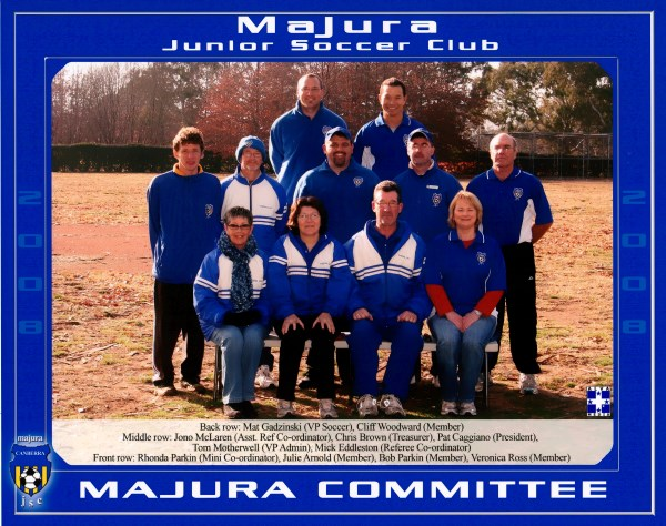 Majura FC Committee Members 2008